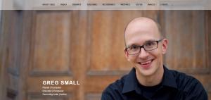 image of musician's website